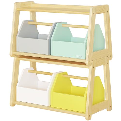 【子供家具】木製 大和屋 norsta ノスタ トイラック 雑貨 おもちゃ箱 玩具箱 おかたづけ 【大型便】【S】