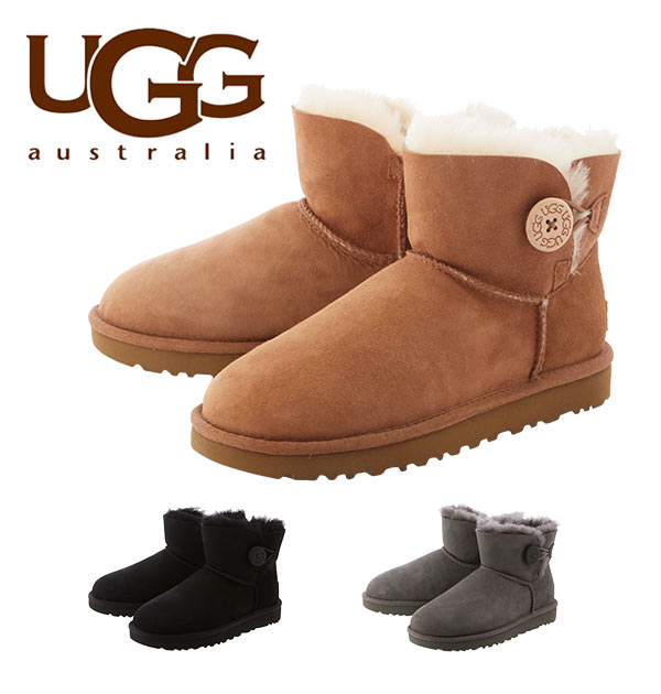 a6e5adf36bb Mouton boots UGG Australia アグオーストラリア Rakuten mini-Bailey button 2 mouton  boots Mini Bailey Button II Lady's short length mini-length ...