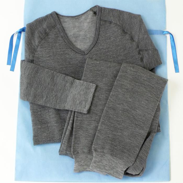 【父の日ギフト包装&送料無料】もちジョイ細微厚地 長袖シャツとタイツのセット◇メンズ mens Gift 贈り物 防寒インナー タイツ 裏起毛