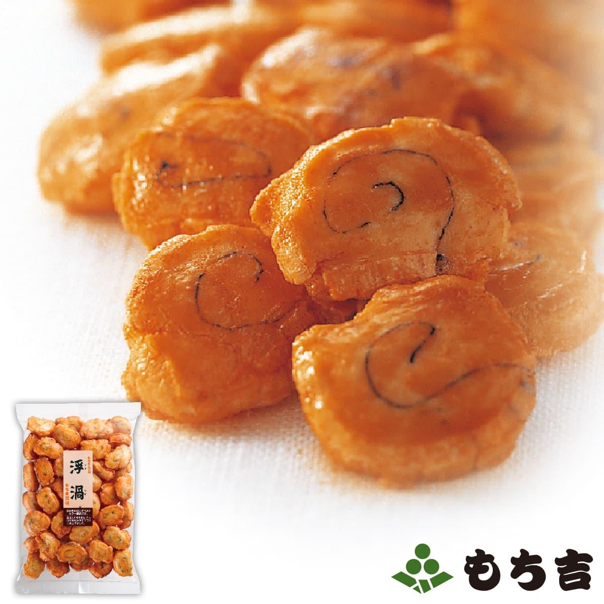 店舗で大人気シリーズ たっぷり甘醤油味でソフトな食感が人気です 日本限定 全国一律送料無料 もち吉 国産米100% 浮渦 110g