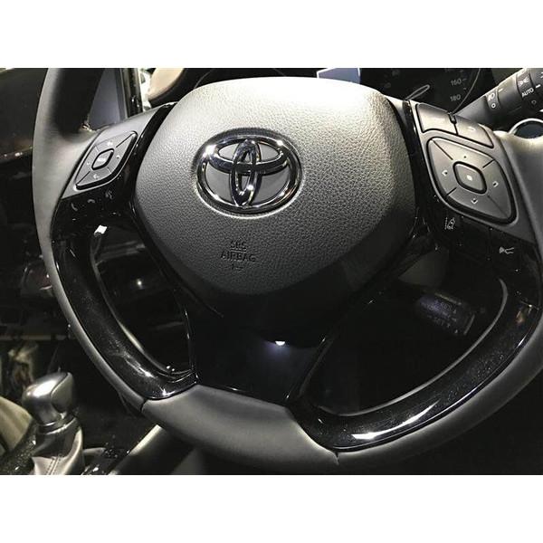 トヨタ C-HR 内装 パーツ ステアリング ガーニッシュ インテリアパネル chr 全グレード 対応 ステアリングアンダーパネル カスタム パーツ アクセサリー 社外品 専用設計 強力 装着 簡単 高級感 高品質