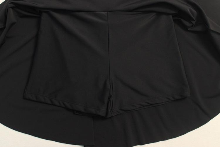 ワンピース水着プラスサイズオフショルダーオールインワンレディース夏フレア無地ワイヤーなしパッド付き全1色3XL(17号)-6XL(23号)