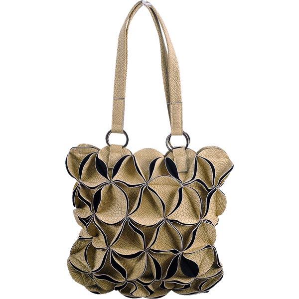 IMAXIS KYOTO パイソン型押しデザインバッグ 合成皮革 ベージュ 【送料無料】【あす楽対応】