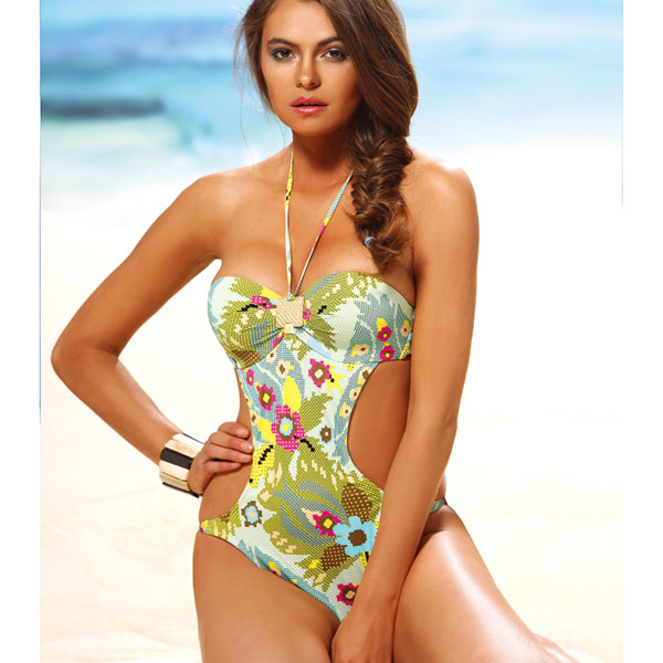6e4c6929fb3a2 Italian import swimsuit / brand swimsuit JOLIDON F1937 floral design  monokini swimsuit (swimsuit dress) ...