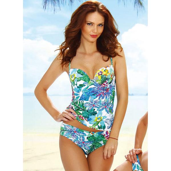 d00341fec8aa4 Italy imported swimwear   brand swimsuit JOLIDON F2295 tankini swimsuit  white black series 10P03Sep16