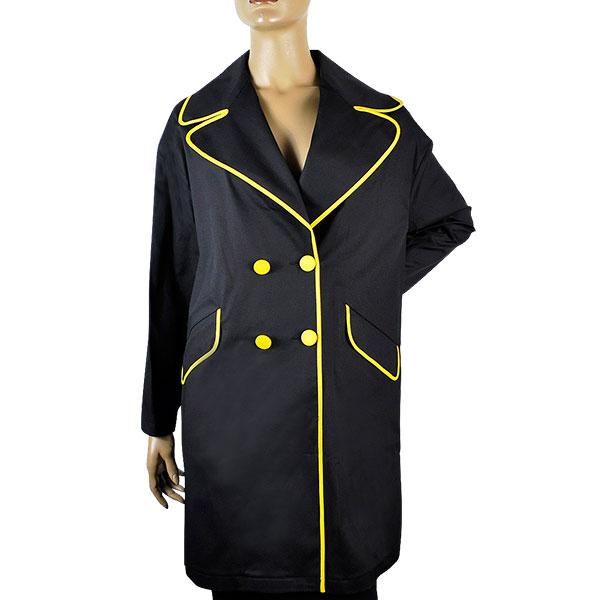 【春夏】【インポート コート】POIS スプリングコート 黒・黄色【送料無料】【あす楽対応】