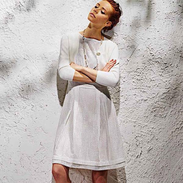 【春夏】【インポート ワンピース】 ELEONORA AMADEI 刺繍コットンワンピース 白【送料無料】 【あす楽対応】