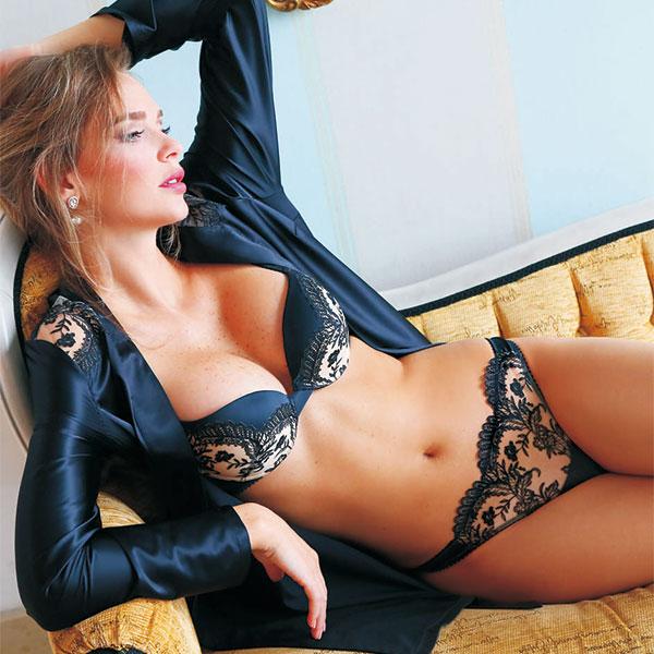イタリアインポートランジェリー JOLIDON CLANDESTINE S2043 刺繍プッシュアップブラ・tバックショーツセット 黒・ベージュ 【送料無料】【あす楽対応】