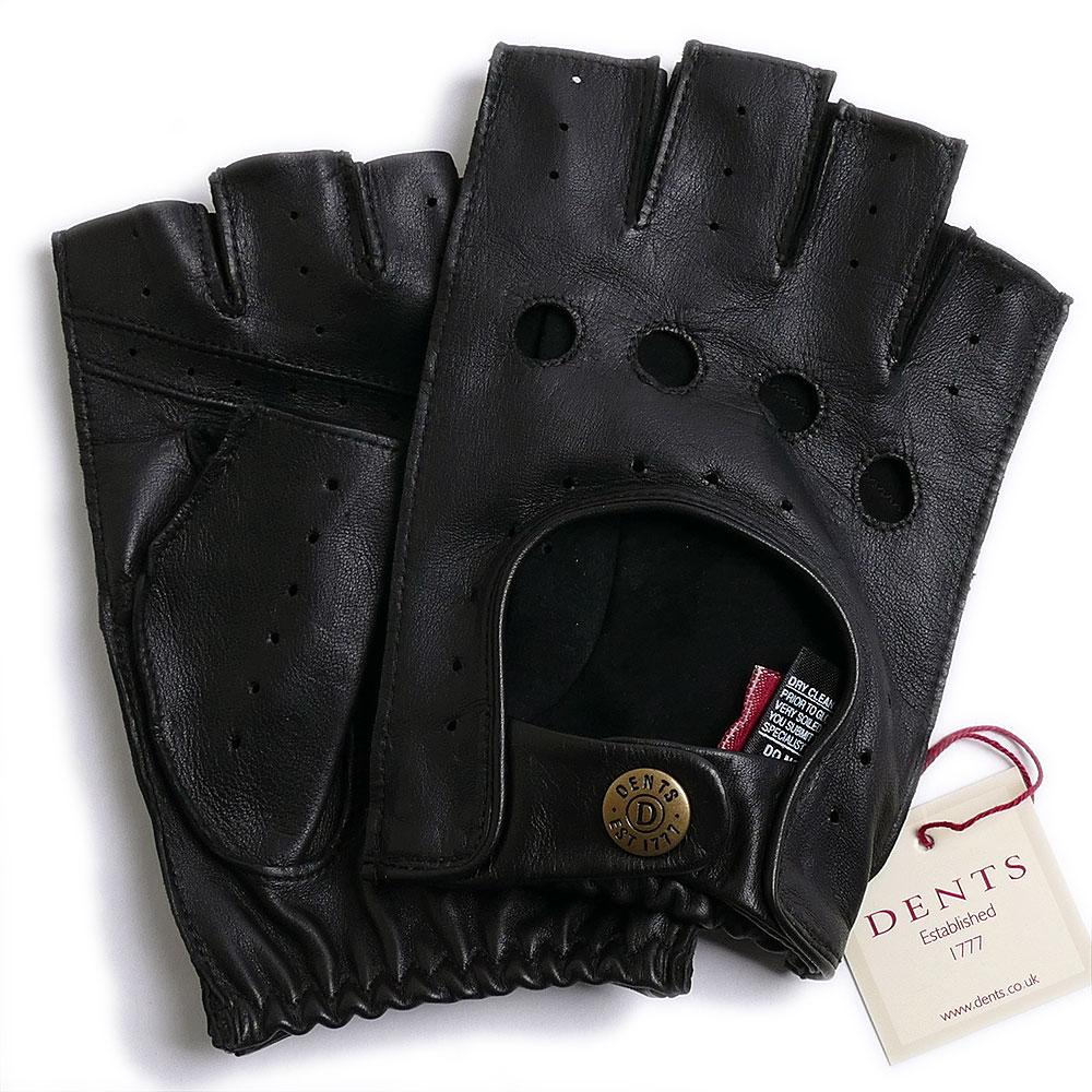 デンツ【送料無料】DENTS カットオフ ドライビング グローブ 5-1009 BLACKメンズ 手袋 半指指なし メンズ【手ぶくろ 男性用 】