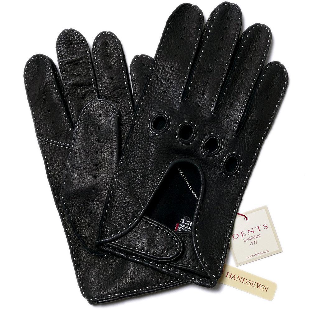 デンツDENTS手縫い鹿革 ドライビング グローブ 5-1020BLACK【送料無料】メンズ 手袋