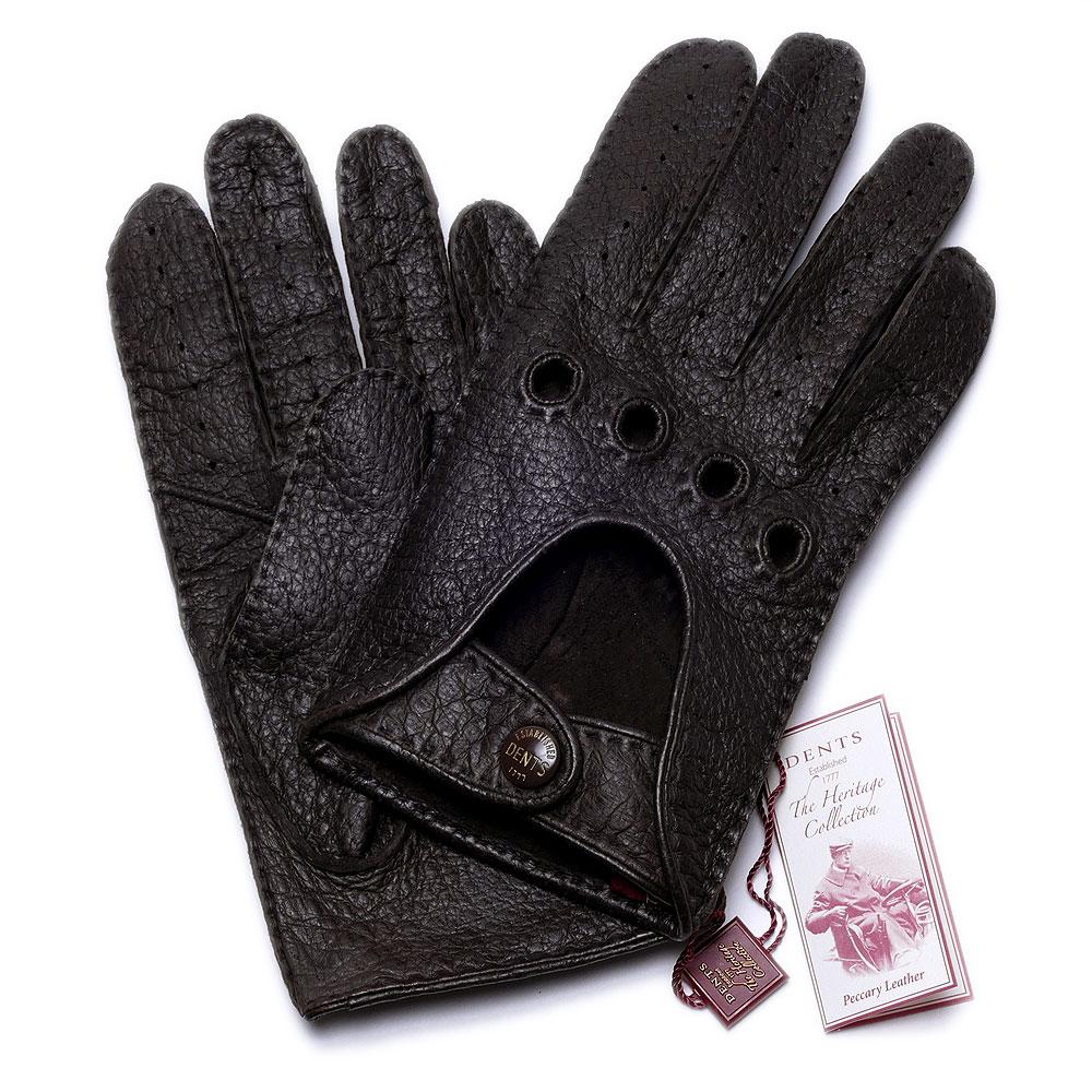 デンツ【送料無料】【英国製】DENTS ペッカリーレザードライビング グローブ 15-1095 BARK メンズ 手袋【手ぶくろ 男性用 】