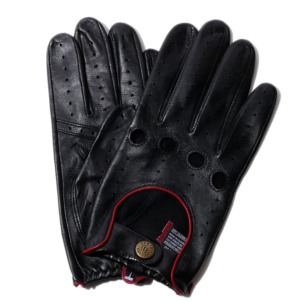 デンツ【送料無料】DENTS ドライビング グローブ 5-1014 Black/Berry メンズ 手袋【手ぶくろ 男性用 】 ブランド ギフト