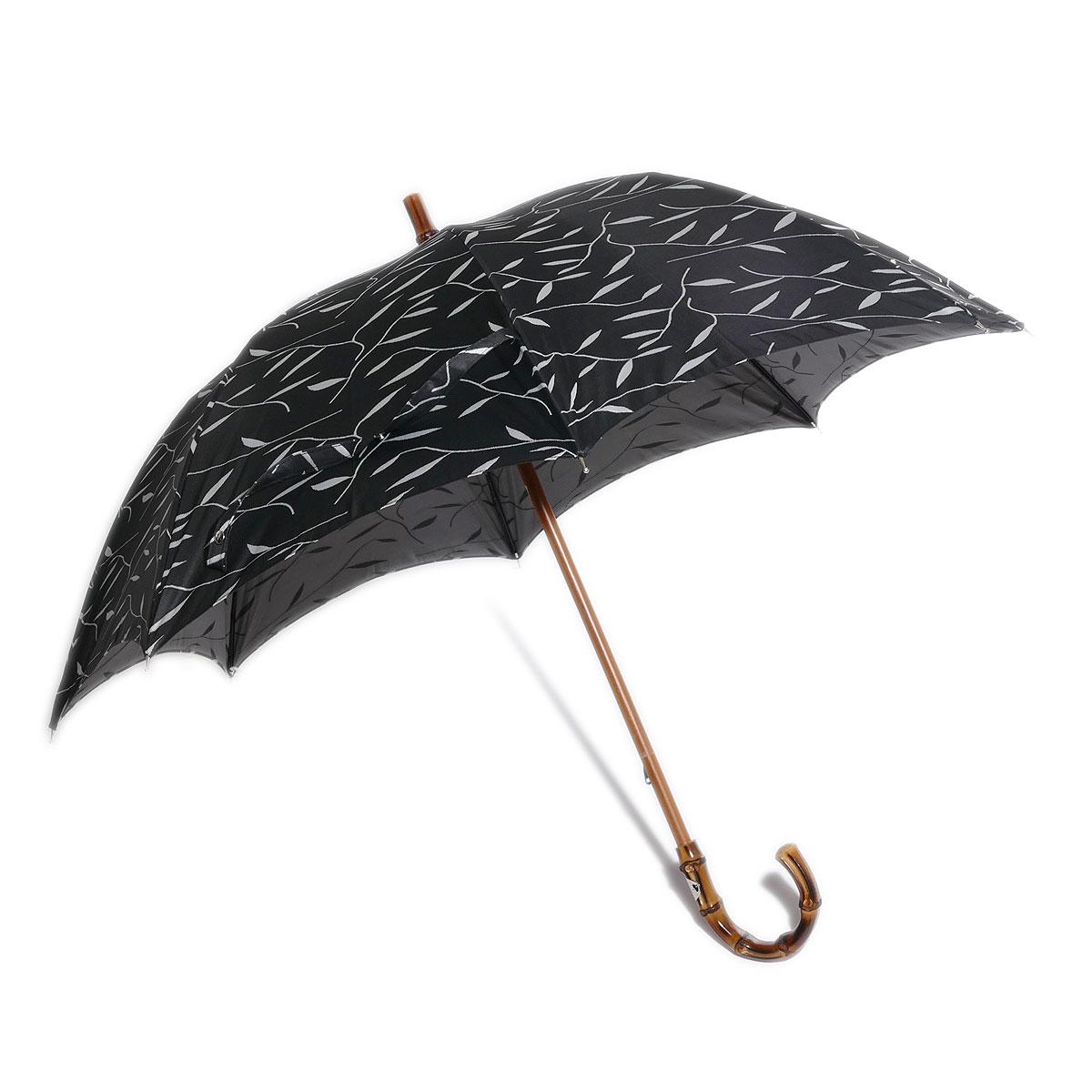 マリアフランチェスコ 贈答 一流メゾンの傘も手掛けるイタリア最古の傘メーカー マリア フランチェスコ Maglia Francesco 舗 イタリア製ハンドメイド レディース バンブーハンドル婦人傘 ブラック