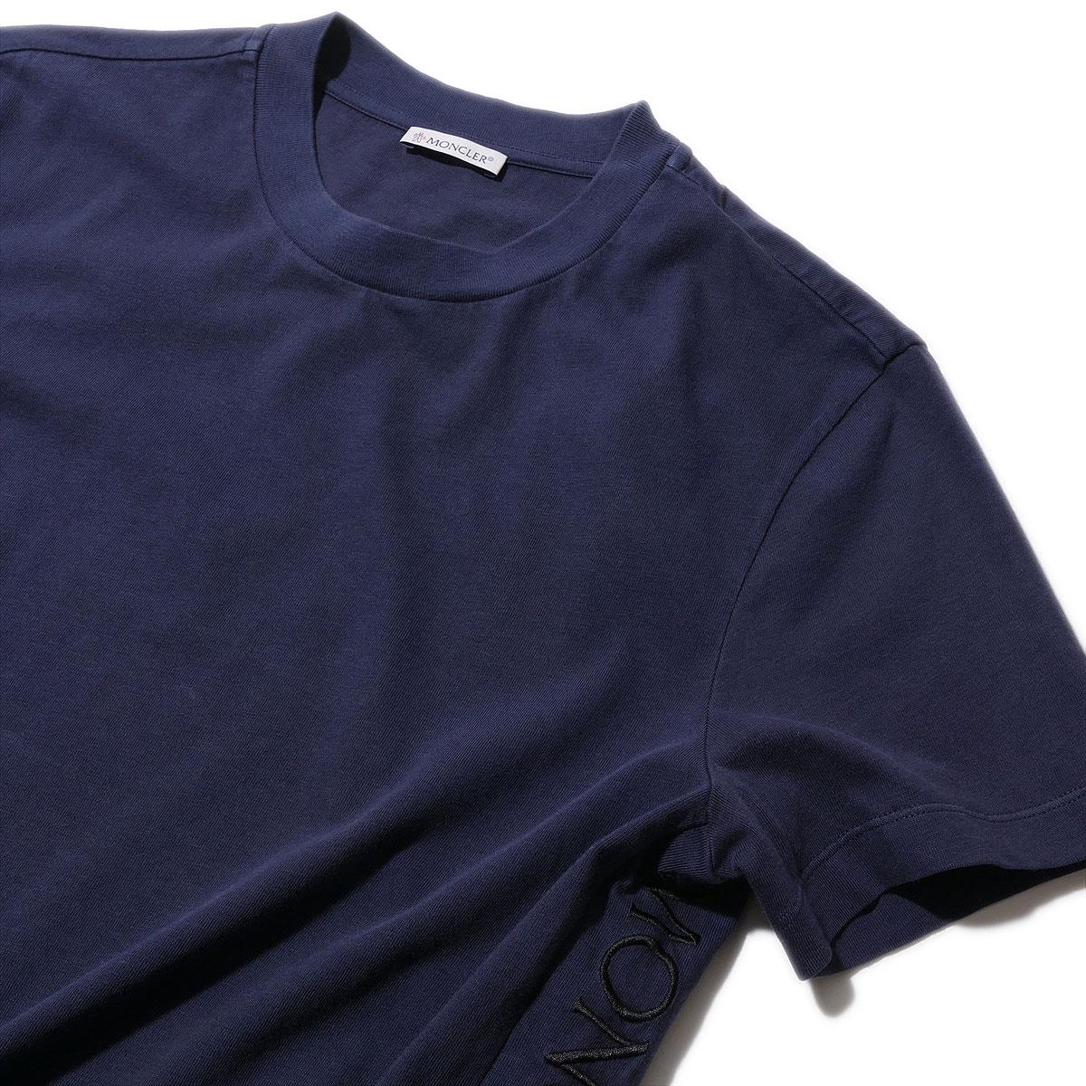 送料無料 モンクレール メンズ Tシャツ 驚きの価格が実現 正規品送料無料 刺繍ロゴTシャツ8C72010 778ネイビー製品染め ギフト おしゃれ ブランド トップス 半袖 MONCLER