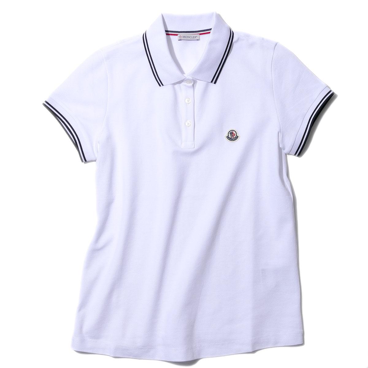 モンクレール レディースポロシャツ 8A70200 001ホワイト MONCLER 2020SS