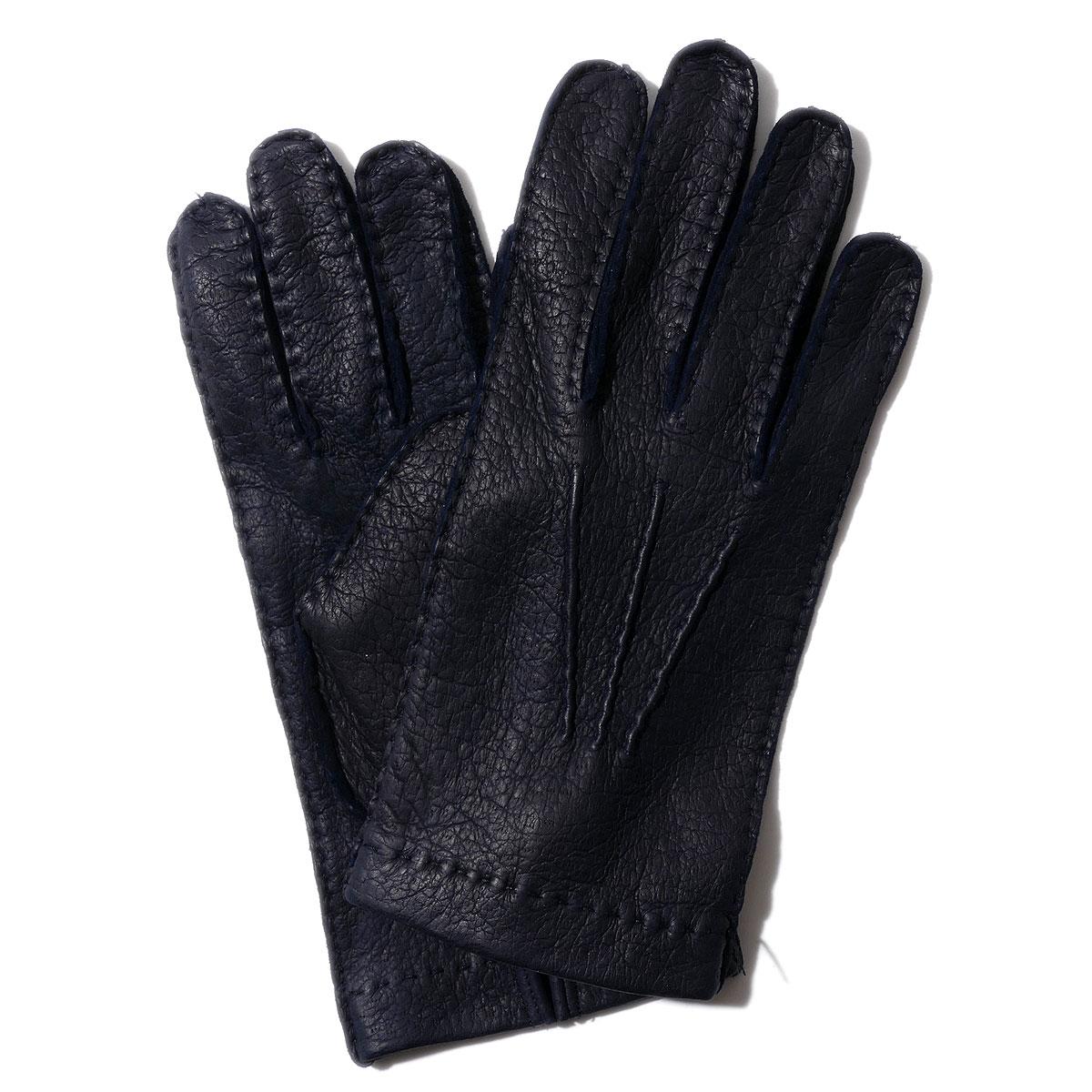 2020AW 送料無料 皇室御用達 名門ドライビング グローブMEROLA メローラ ペッカリー グローブ ZU73 ネイビー MEROLA イタリア製 手ぶくろ 手袋 革 時間指定不可 格安 価格でご提供いたします ギフト メンズ 裏地なし 男性用 防寒ブランド