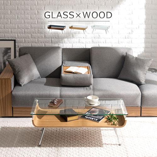 応接テーブル 送料無料 テーブル 長方形 センターテーブル ローテーブル ダイニングテーブル 机 収納 棚付き ガラス 木製 てーぶる table つくえ ホワイト ダークブラウン 白 ナチュラル おしゃれ 低め ロー ディスプレイ 曲げ木