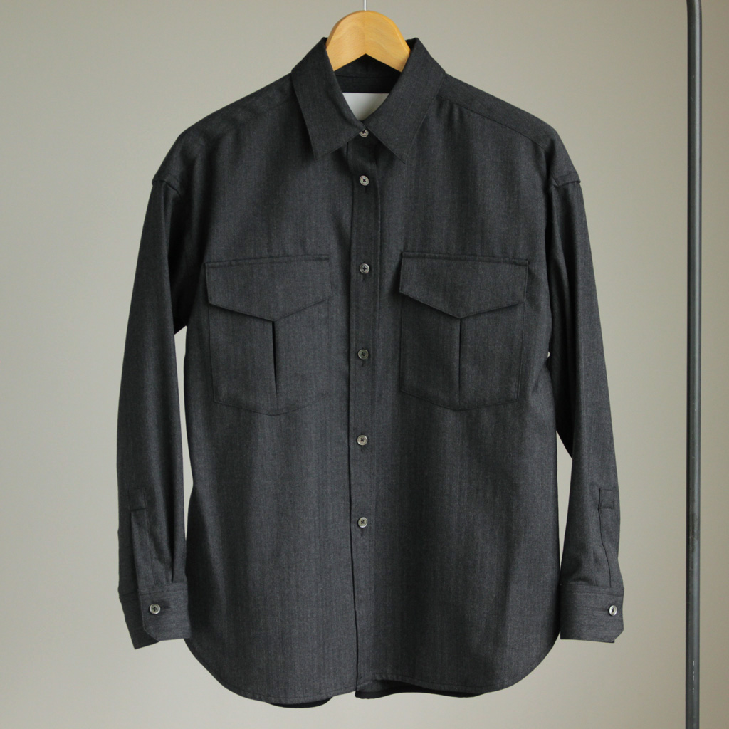 TICCA - Wポケットシャツ #charcoal gray/herringbone (122520914 WOMEN)
