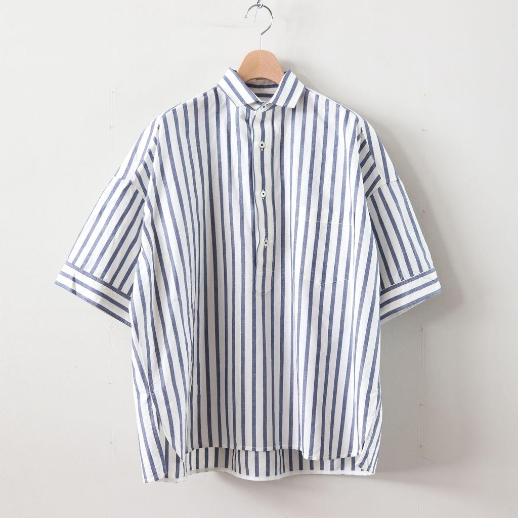TICCA | ティッカ - スクエアビッグシャツ半袖PO #BLUE STRIPE [TAIS-362]