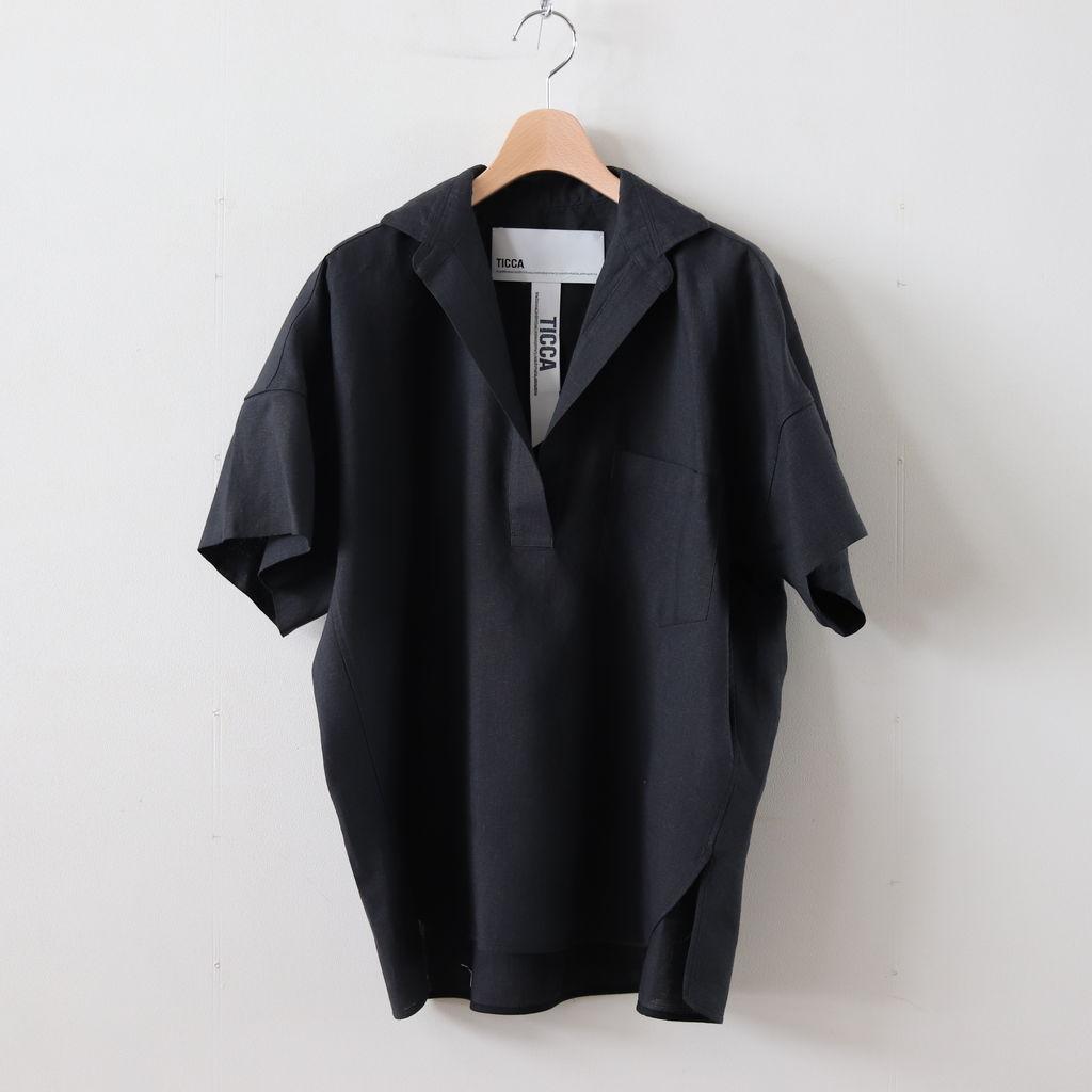 TICCA | ティッカ - スキッパーシャツ #BLACK [TAIS-356]