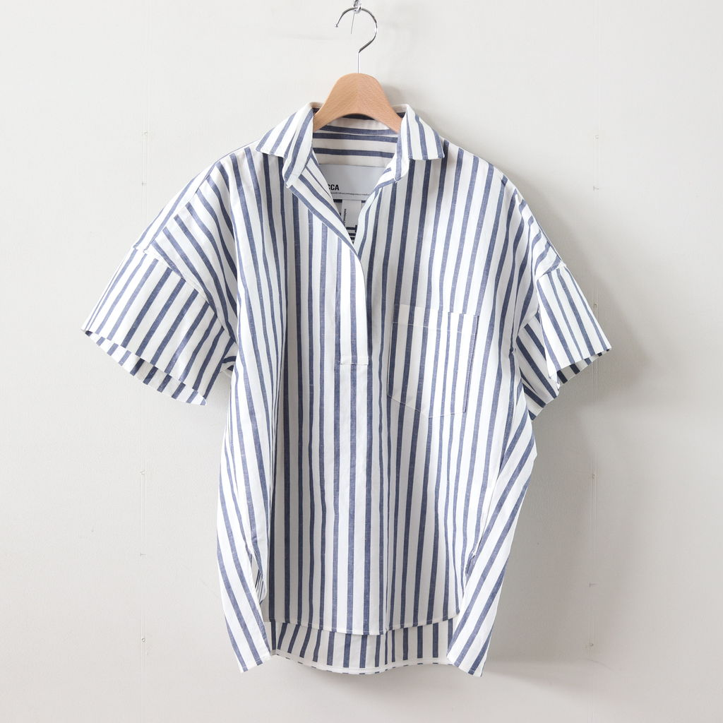 TICCA | ティッカ - スキッパーシャツ #BLUE STRIPE [TAIS-366]