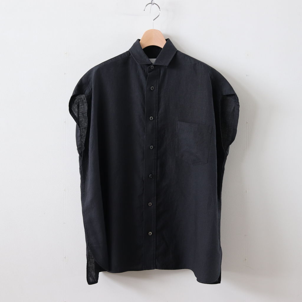TICCA | ティッカ - フレンチスリーブシャツ #BLACK [TAIS-358]