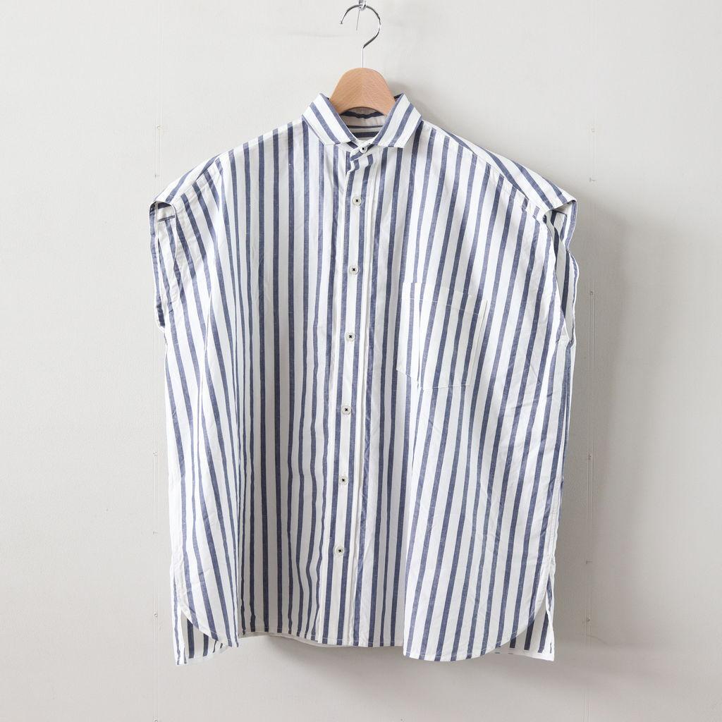 TICCA | ティッカ - フレンチスリーブシャツ #BLUE STRIPE [TAIS-368]