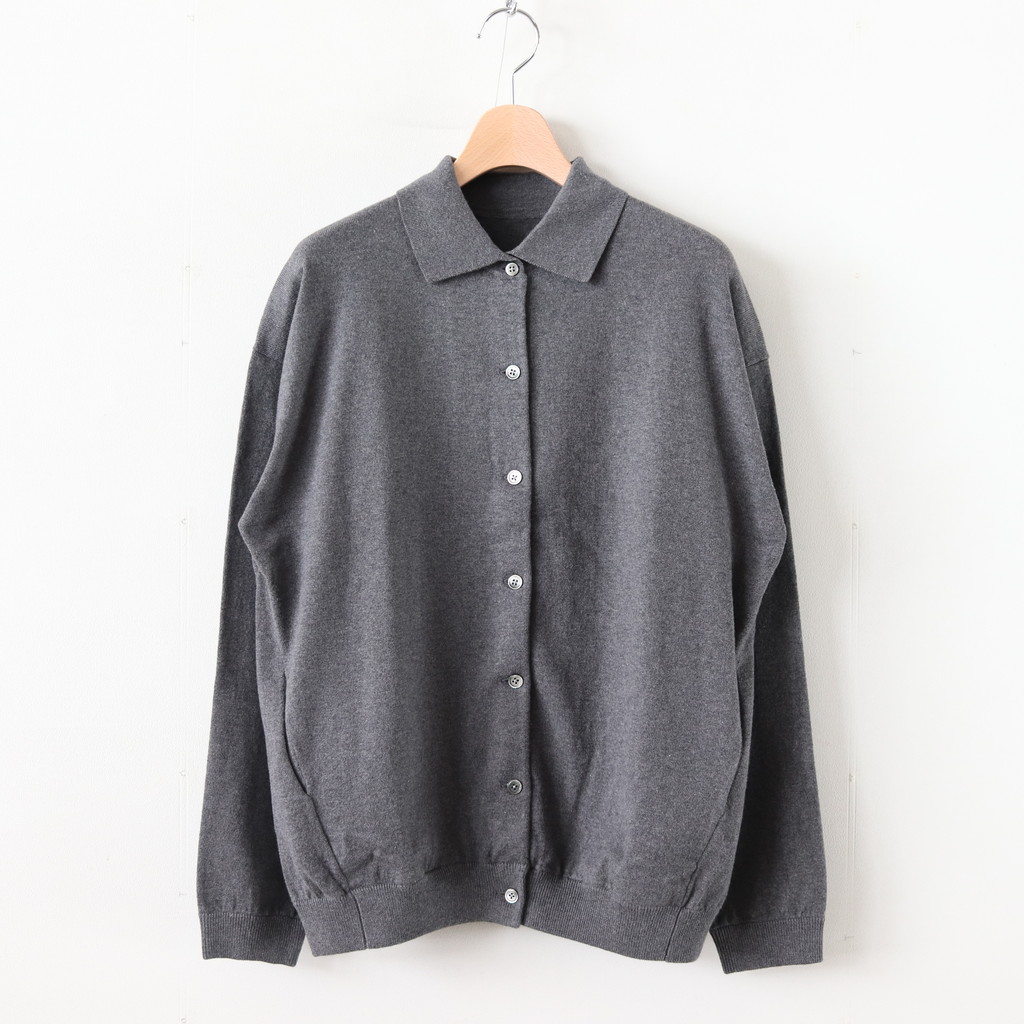 crepuscule | クレプスキュール - KNIT SHIRTS L/S #C.GRAY [1903-005W]