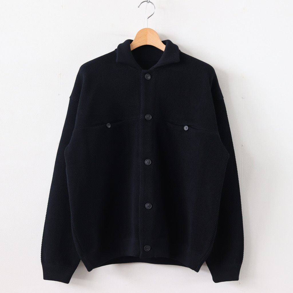 crepuscule | クレプスキュール - MOSS STITCH BLOUSON #BLACK [1903-003]