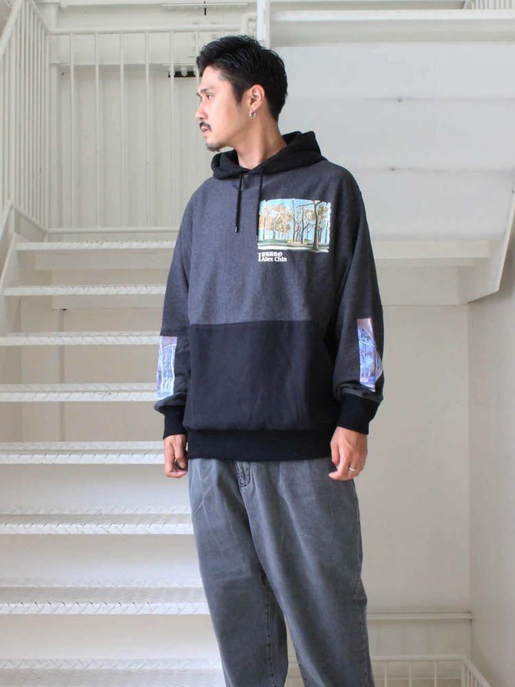 Dunno | ダノウ - FOREST 2TONE HOODY #C-BLACK/BLACK [DN0501307]