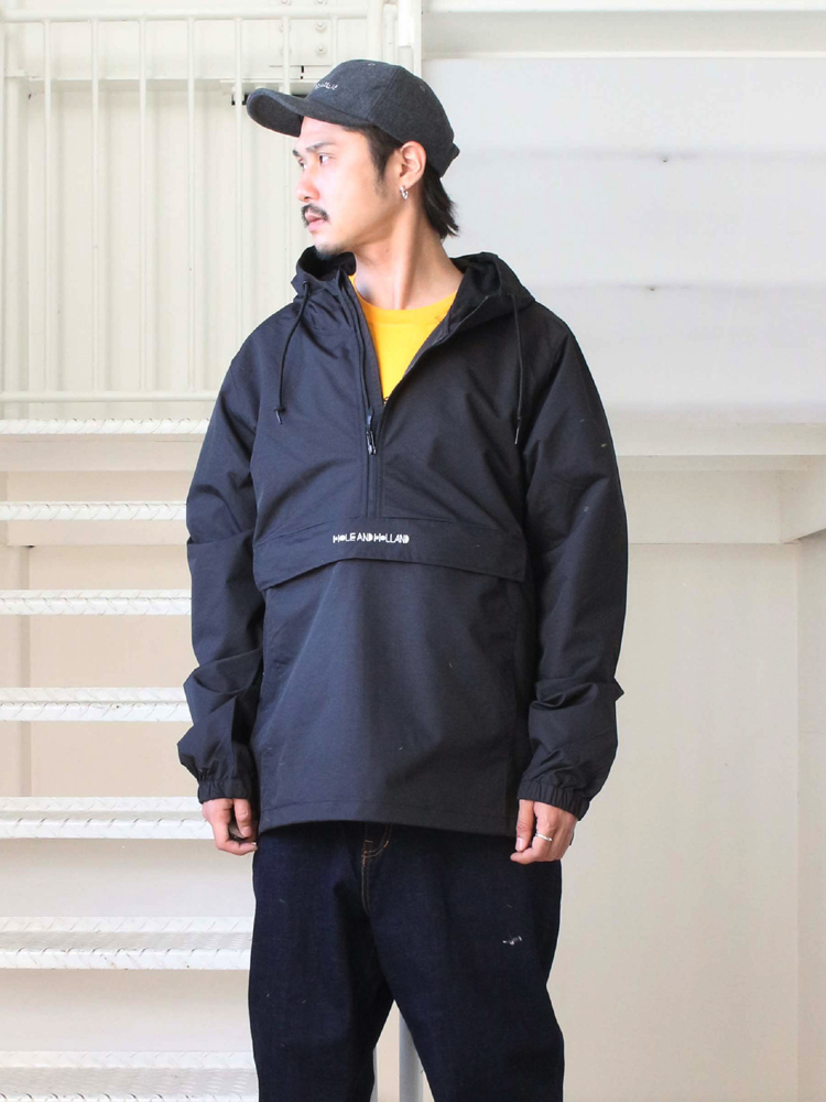 HOLE AND HOLLAND | ホールアンドホーランド - ANORAK JKT #BLACK