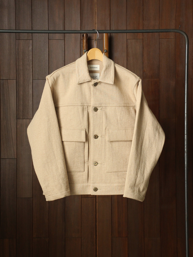 MARKAWARE WORK JACKET #NATURAL BROWN