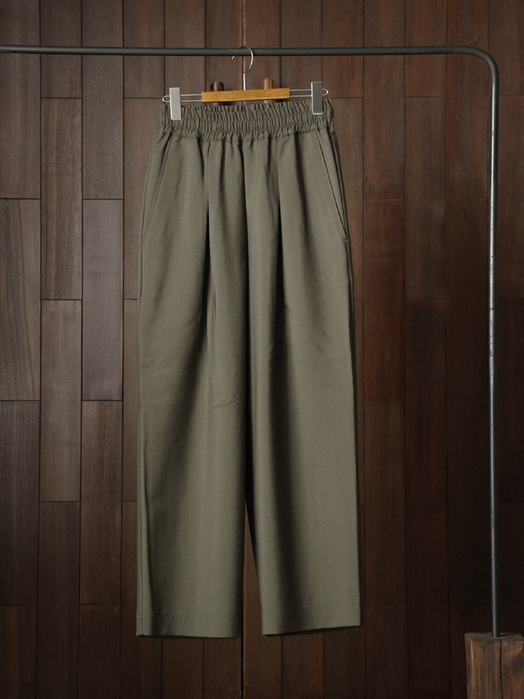 marka EASY WIDE PANTS #OLIVE GRAY