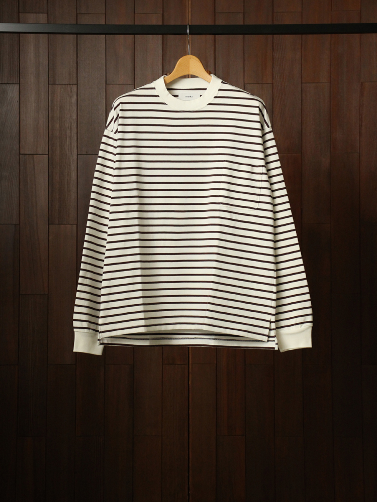 marka POCKET TEE L/S #BROWN
