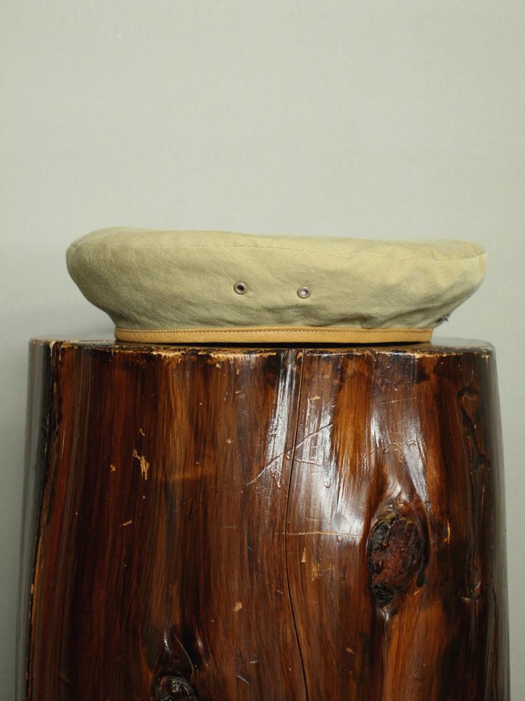 SOLARIS HATMAKERS & Co. B.PANTHER / COTTON BERET CAP #BEIGE 131650592