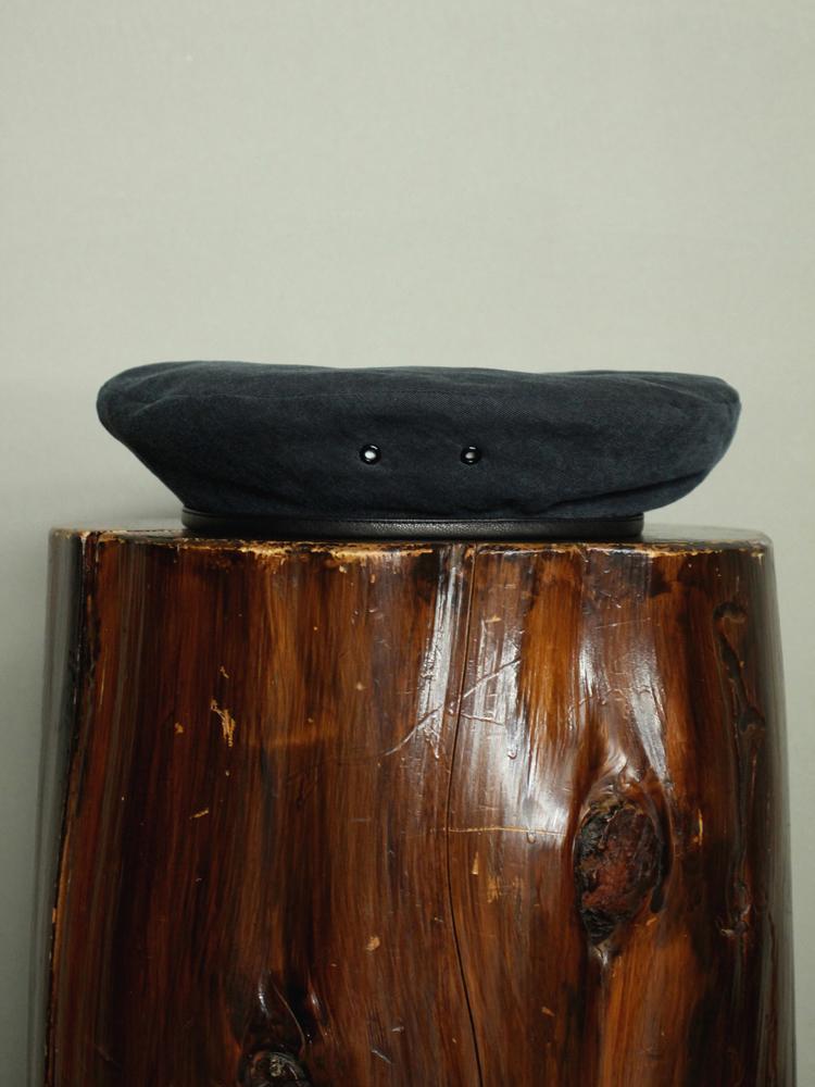 SOLARIS HATMAKERS & Co. B.PANTHER / COTTON BERET CAP #INK BLACK 131650593