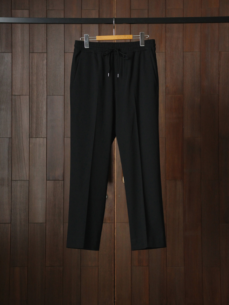 Text Easy Trousers #Black