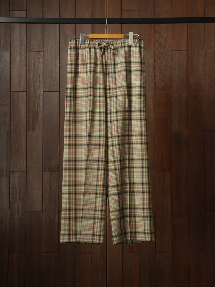 Text Pajama Pants #Olive Check