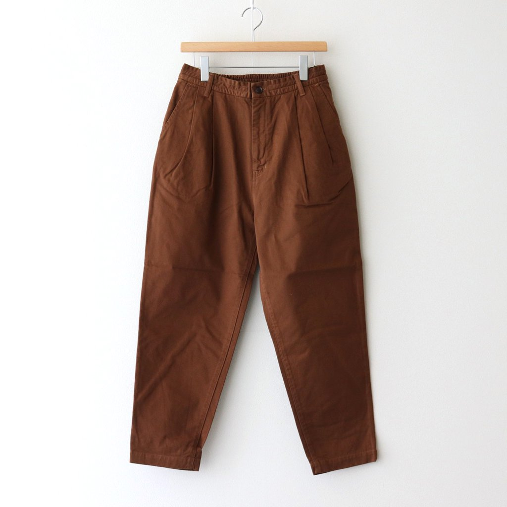 HARVESTY ハーベスティ 正規取扱店 - EASY EGG PANTS A11913 CLOTH CHINO GARMENT #BROWN DYED 商舗 商舗