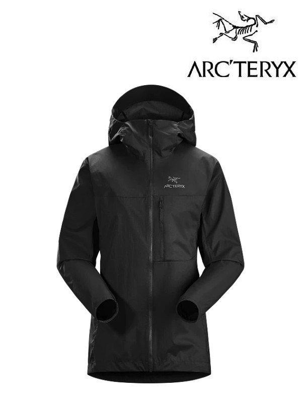 正規品 レディース ウィンドシェル ウインドブレーカー ARC'TERYX アークテリクス Women's Squamish Hoody #Black [25171][L07363200] スコーミッシュ フーディ レディース