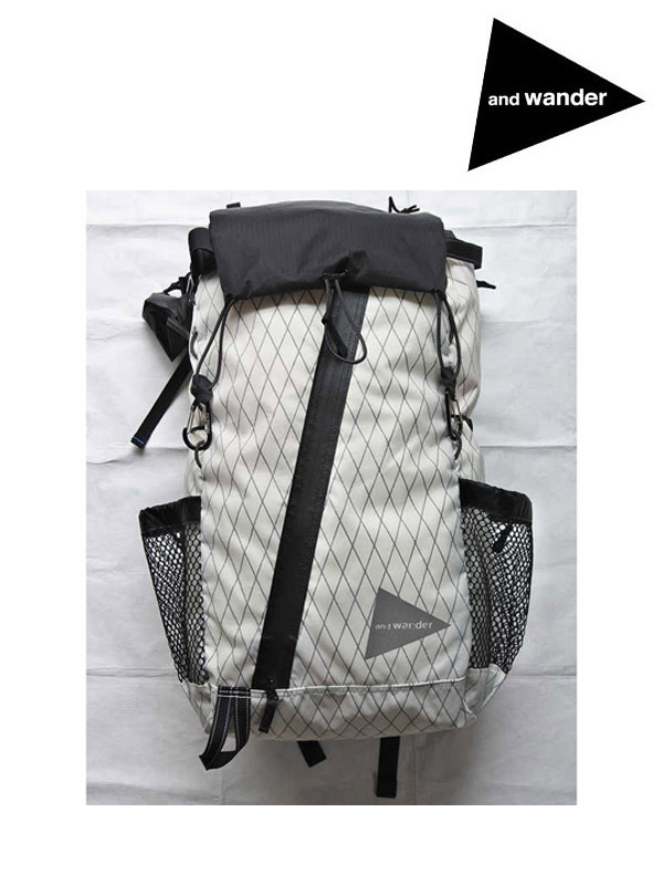 and wander アンドワンダー X-Pac 30L backpack #White [AW-AA651] エックスパック 30Lバックパック