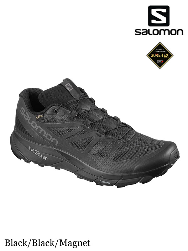 SALOMON サロモン|Women's SENSE RIDE GTX INVISIBLE FIT #Black/Black/Magnet