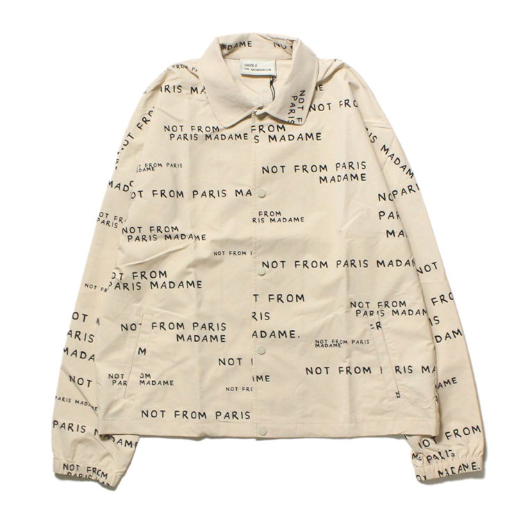 Drole de Monsieur | ドロールドムッシュ - All Over NFPM Jacket #SAND