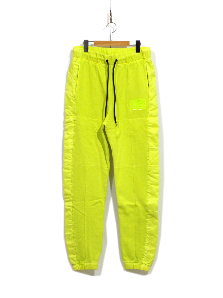 FULL-BK PIGMENT CLEAR SILICON SWEAT PANTS #YELLOW