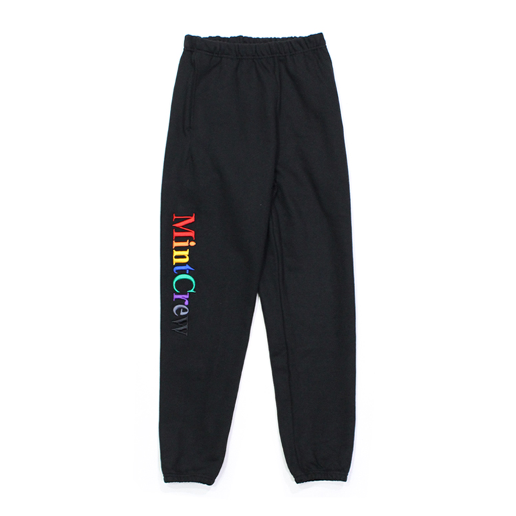 MINT CREW | ミントクルー - MULTICOLOR LOGO SWEATPANTS #BLACK