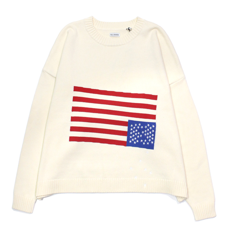 WILLY CHAVARRIA | ウィリーチャバリア - FALLING STAR SWEATER #OFF WHITE