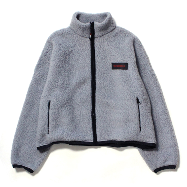 WILLY CHAVARRIA | ウィリーチャバリア - BOMBER FULL ZIP #CHARCOAL
