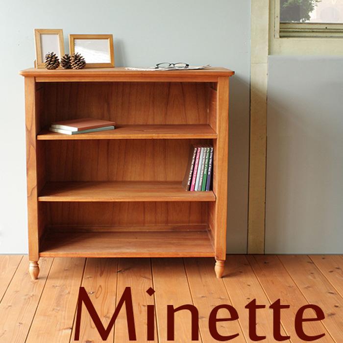 【送料無料】 気品ただようナチュラル本棚 幅80cm アンティーク 北欧 美しい本棚 モデラート