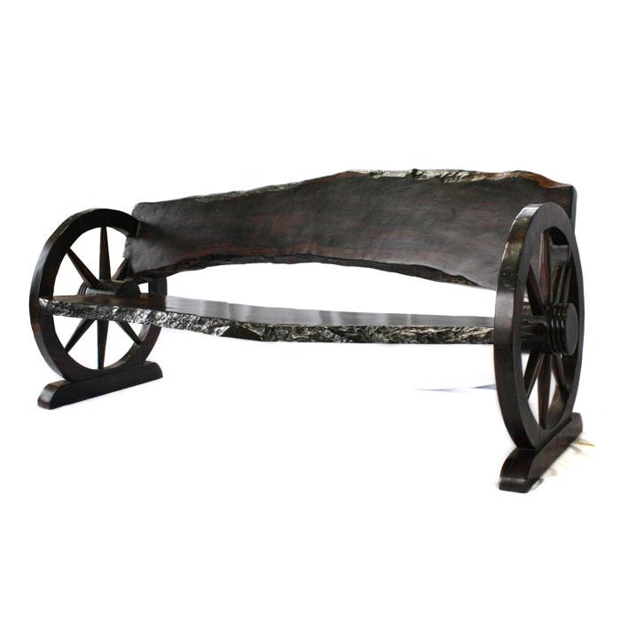 【展示品、現品限りの特別価格】高級天然木 黒檀 ベンチ 長椅子 置き物 インテリア オブジェ 手彫り moderato3