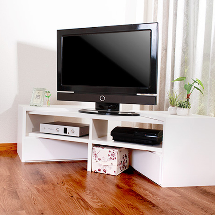 お部屋とTVに合わせて伸縮テレビ台 VEEO ローボード コーナー なリビングボード TV 伸張 木製 日本製 完成家具 送料無料 AV収納(tvボード オーディオボード tvラック テレビラック オーディオラック テレビ) 一人暮らし ひとり 一人 二人暮らし